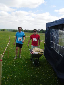 Channel Four's 'Fabulous Baker Brother' Tom Herbert completing the 2013 Race4All