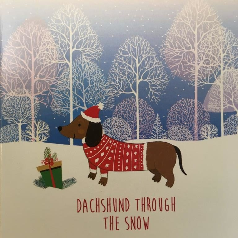 Dachshund Through The Snow – Christmas Cards (Pack of 10)