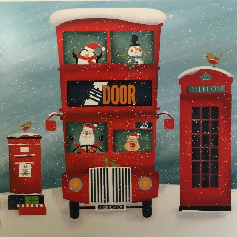 Santa's Bus – Christmas Cards (Pack of 10)